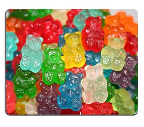 Gummibärchen Süßigkeiten Mehrfarbige Süßigkeiten Rutschfeste, längliche Mauspad Langlebige Bürocomputer Schreibtisch Schreibwaren Zubehör Mauspads für Geschenk