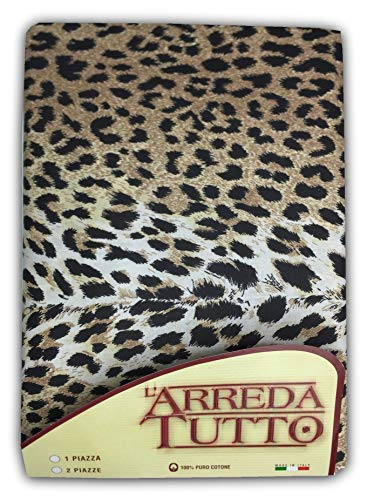 tex family Tela Decorativa cubretodo, Gran Foulard para Cubrir la Cama, el sofá, Tejido Moteado de Leopardo Sexy – 1 Plaza