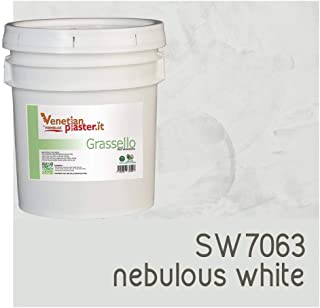 FirmoLux Grassello Authentic Venetian Plaster | Polished Plaster | Made in Italy from Lime, Marble & Other Natural Aggregates | Medium Tone Colors (14) | Colors: SW7063 Nebulous White