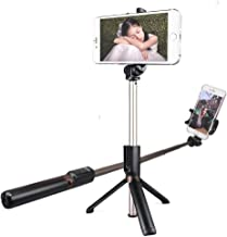 MAONO Selfie Stick Tripod AU-Z06 Integrated Stand with Extra Silicone Phone Stand Bluetooth Remote, Extra Cell Phone Stand, Portable Monopod for Smartphone