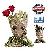 Baby Groot Pot de Fleur - Figurine d'action pour Plantes et stylos du Film Classique -...
