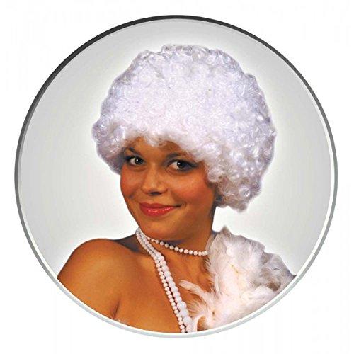 Party Pro Pop Orange Wig Perruque 830106 Blanc, Taille Unique