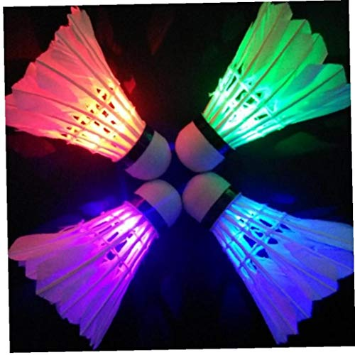 Ruluti 1pc Led Badminton Federball, Dark Night Glow Badminton Für Spiele, Outdoor Indoor Sport Spielzeug (zufällige Farbe)