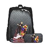 Jac_K SKEL_Lington - Mochila de viaje para estudiantes de anime, mochila de viaje, divertida, multiusos, para la escuela, mochila de oficina, senderismo, bolsa de ordenador portátil