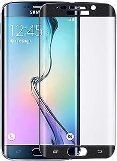واقي شاشة ثلاثي الأبعاد، حماية زجاج، واقي شاشة قوي لهاتف Samsung Galaxy S6 EDGE PLUS (أسود)