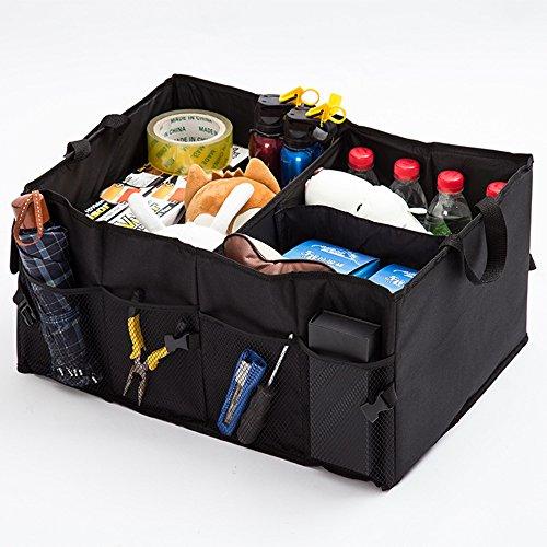 Lineeubea Organiseur de coffre de voiture, durable, pliable Coffre Boîte de rangement, courses de voyage support pour voiture, SUV, enfants, 55,9 x 39,9 x 25,9 cm