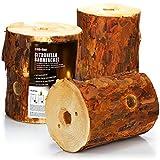 com-four® 3X Fuego Sueco con Mecha de Encendido y Aroma de citronela, antorcha finlandesa para Romance de fogata, antorcha de árbol, antorcha de jardín con Aroma