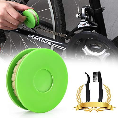JNUYISW Rodillo de engrasador de Cadena de Bicicleta, engrasador de engrane de Cadena de Bicicleta Lubricador Limpiador de lubricante Lubricante Herramienta para el Cuidado de Bicicletas