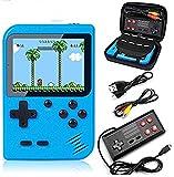 VOUM Handheld Spielkonsole mit Schutzhülle, Retro-Game-Player mit 400 klassischen FC-Spielen...