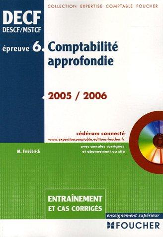 Comptabilité Approfondie Epreuve n°6: Entrainement edition 2005-2006