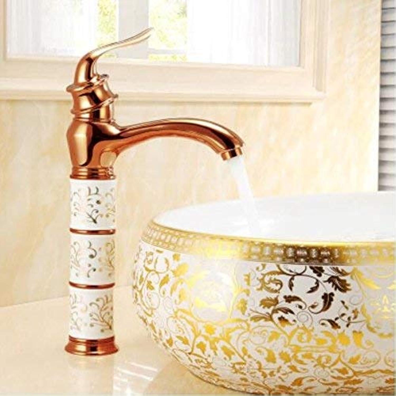 Oudan Cold and Hot Copper Bath Basin Faucet Antique Wash Basin Faucet European Basin Basin Washbasin Faucet Single Hole Ceramic Disc Spool,B (color   B, Size   -)