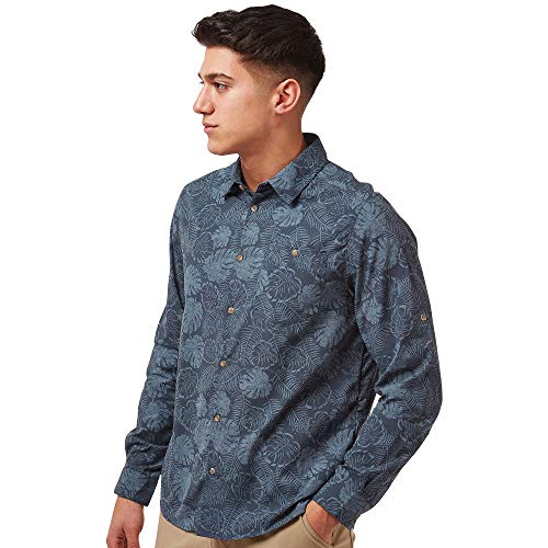 Craghoppers NosiLife Lester Langarm Hemd Herren Steel Blue Print Größe XXL 2020 Langarmshirt