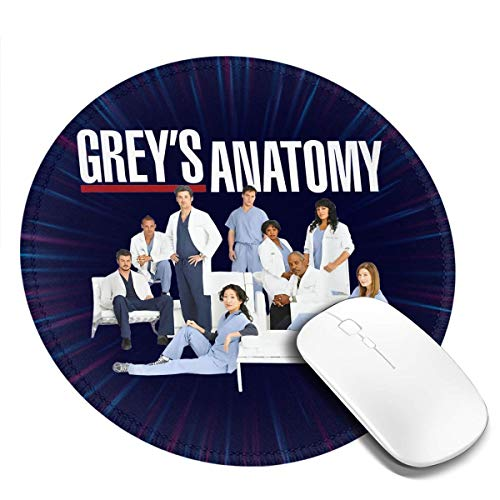 Grey's Anatomy Group with Logo Round Game Mousepad Office Notebooks Mouse Pad 1 Pcs