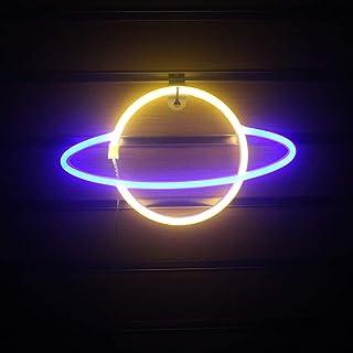 Adoture Planet - Luz de neón LED para pared, funciona con pilas o USB, luz de neón, luces LED de neón, lámpara de nube, luz para el hogar