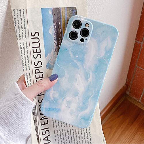 Estuche para teléfono Bling Pink Cloud para iPhone 12 Pro MAX 11 Pro MAX 12 Mini XS MAX XR X 7 8 Plus Coque Soft IMD Full Body Cover para iPhone 7 u 8 Azul