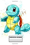 Composition Notebook: Cute Squirtle Pokemon Composition Notebook (100 pages | Size: 6x9 inches): Soft Glossy Wide Ruled Journal with lined Paper for ... ... gift for boys and girls, pokemon lovers