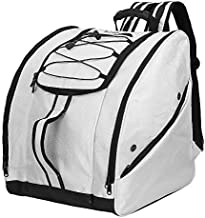 SoarOwl Ski Boot Bag –Skiing Travel Luggage, Excellent for Travel with Waterproof Exterior & Bottom - for Men, Women and Youth (C-White)