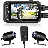 Motorcycle Dash Cam,Blueskysea DV128 1080P Dual Lens Video Recorder Motorcycle Camera Front and Rear Waterproof DVR with G-Sensor, Loop Recording,GPS,Manual Lock,Night Vision