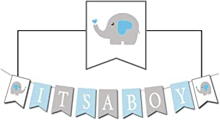 Baby Elephant It's A BOY Banner for Baby Shower