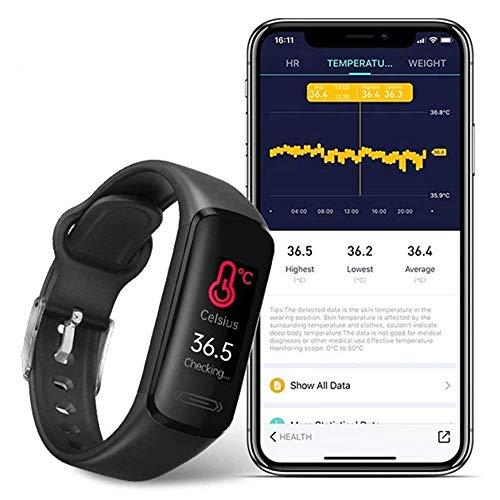 Aubess Rastreador de fitness, pulsera inteligente para corazón, paso, sueño, orden, rastreador de fitness, para mujeres y hombres, Android/IOS