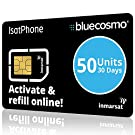 BlueCosmo IsatPhone 50 Unit Global Satellite Phone Prepaid Service SIM Card for Inmarsat IsatPhone Pro and IsatPhone 2 | 30 Day Expiry - No Activation Fees - Voice - SMS Text Messaging