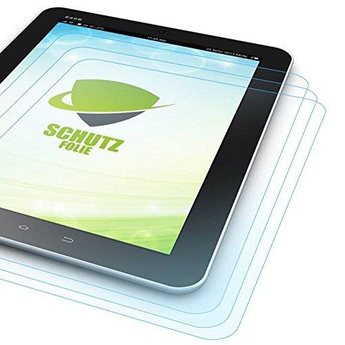 Wigento 3X Bildschirmschutzfolie Folie für Samsung Galaxy TabPro S 12 Zoll W700 W708 LCD Zubehör + Poliertuch Screen Protector