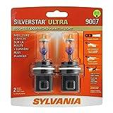 SYLVANIA 9007SU.BP2 SilverStar Ultra High Performance Halogen Headlight Bulb, (Contains 2 Bulbs)
