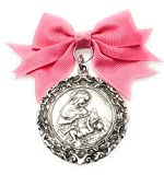 Medalla de Cuna La Maternidad bañada en Plata de Ley