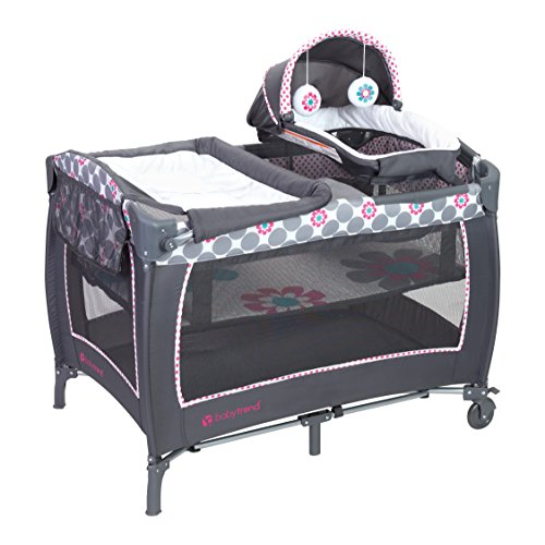 Baby Trend Lil Snooze Deluxe 2 Nursery Center Daisy Dots