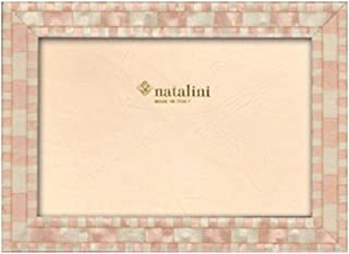 Natalini 5 X 7 Pink Mosaic Wooden Frame Made in Italy