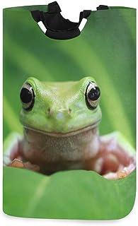 Panier à linge Alge amusant en forme de grenouille sur feuilles pliable durable panier de rangement panier à linge panier ...