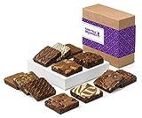 Fairytale Brownies Brownie Dozen Gourmet Chocolate Food Gift Basket - 3 Inch Square Full-Size Brownies - 12 Pieces - Item CF112