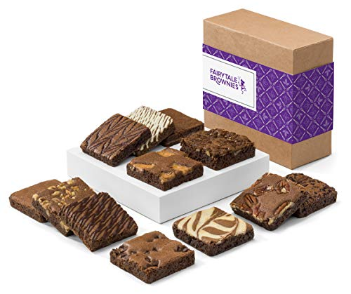 Fairytale Brownies Brownie Dozen Individually Wrapped Gourmet Chocolate Food Gift Basket - 3 Inch...