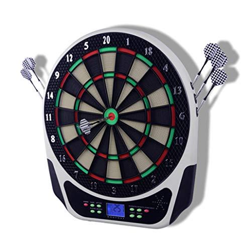 DPPAN Elektronische Dartscheibe Dartboard, LCD-Anzeige Anzeigers 18 Spielen 159 Varianten umfassen 6 Dartpfeile 24 Soft-Tipps 8 Spieler, Batterie/Stromversorgung,Multicolor