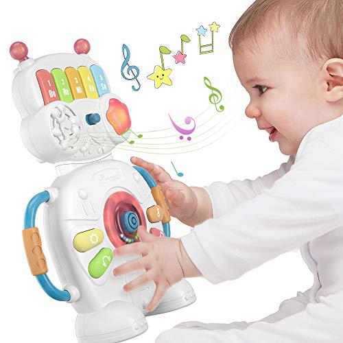 Robot de jouet de piano électronique musical pour bébé...
