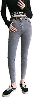 Howely Women Washed Curvy Skinny Denim High-Waisted Ankle Pants Jeans