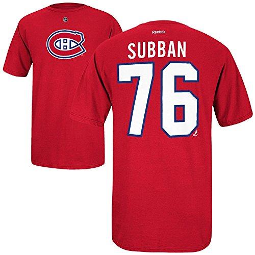 Majestic NHL T-Shirt Montreal Canadiens P.K. Subban #76 rot Eishockey (M)