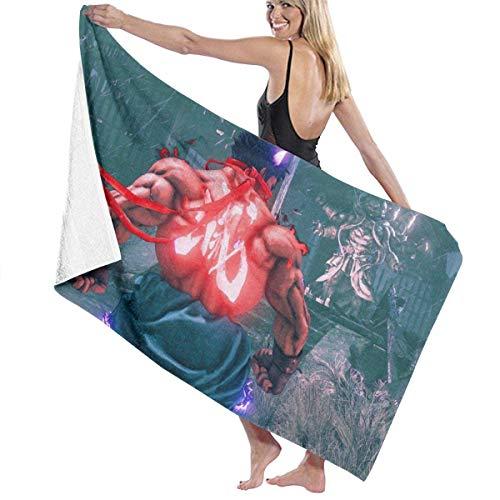 ETGBFHRDH Street Fighter Oversized Personalisierte individuelle Damen Herren Schnell trocknende Strand- & Badetuch Badetuch Badetuch Badetuch Badetuch Schwimmen und Camping, 79 x 51 cm