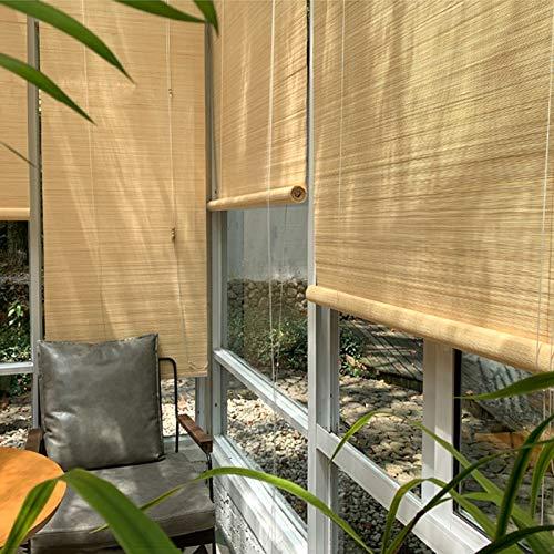 ERLAN Tende a Rullo Tendine Parasole in bambù per Pergolato Gazebo, 1,4m 1,2m 1m 0,8m di Larghezza Tende per Finestre con Fissaggi a Gancio, Filtraggio della Luce (Size : 140×240cm/55×94.5in)