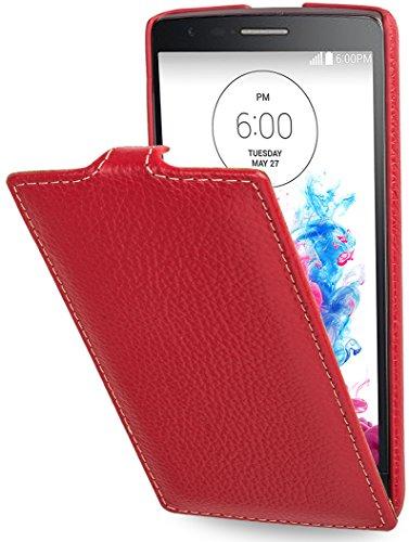 StilGut UltraSlim Funda de Cuero Genuino para el LG G3s, Rojo