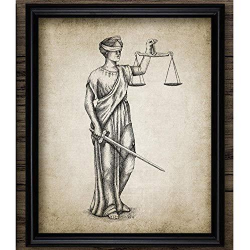 Poster Rechtsanwalt Lady Justice Law Patent Poster Und Drucke Waage Der Gerechtigkeit Rechtsanwalt Geschenk Kunst Leinwand Gemälde Anwaltsbüro Wanddekor A 8X10Inch(20X50Cm)