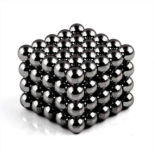 Movmagx - Bolas magnéticas (5 mm, 100 unidades), incluye bolsa de terciopelo y tarjeta de separación, imanes superfuertes para tablón de anuncios, pizarras magnéticas, pizarras blancas o nevera