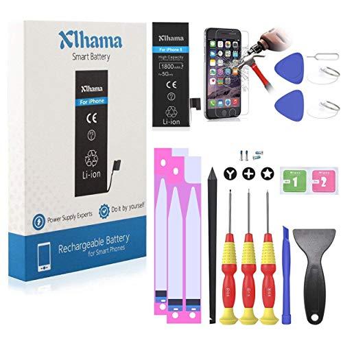 Xlhama Batteria Alta Capacita PER iPhone 5 1700 Mah CON KIT SMONTAGGIO Strumento Istruzione data compresso Adesivi biadesivo