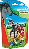 Playmobil- Jockey avec Cheval de Course, 9261