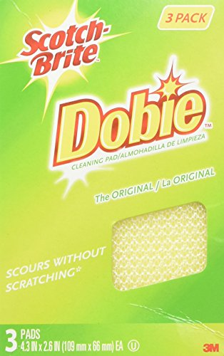 3M Scotch-Brite Dobie All-Purpose Pads, 3-Count (Pack of 2) - FBA_7232F
