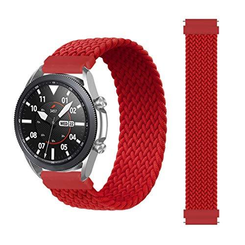 EMIOBAND Correa Solo Loop Trenzada 20mm Compatible para Galaxy Watch Active/Active 2 (40mm)(44mm)/Galaxy Watch 3 41mm/Gear Sport/Galaxy Watch 42mm/Gear s2 Elastic Sports Correa
