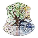 Yuanmeiju Diademas 12 en 1, diadema con bufanda de árbol de color artístico, cómodos calentadores fa...
