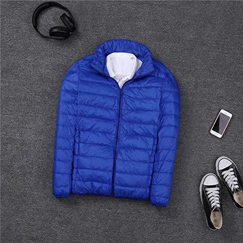 DPKDBN Heren Down Jacket, herfst winter ultra dunne lichtgewicht donsjack mannen staan kraag witte eendenjas plus maat
