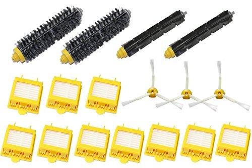 3PCS Garosa HEPA Filters Brush Compatible para Irobot Roomba 500 600 Series Robotic Aspiradora Partes
