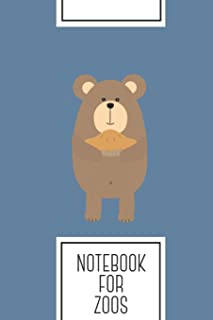 Notebook for Zoos: Lined Journal with Brown Bear with pie Design - Cool Gift for a friend or family who loves wild presents! | 6x9